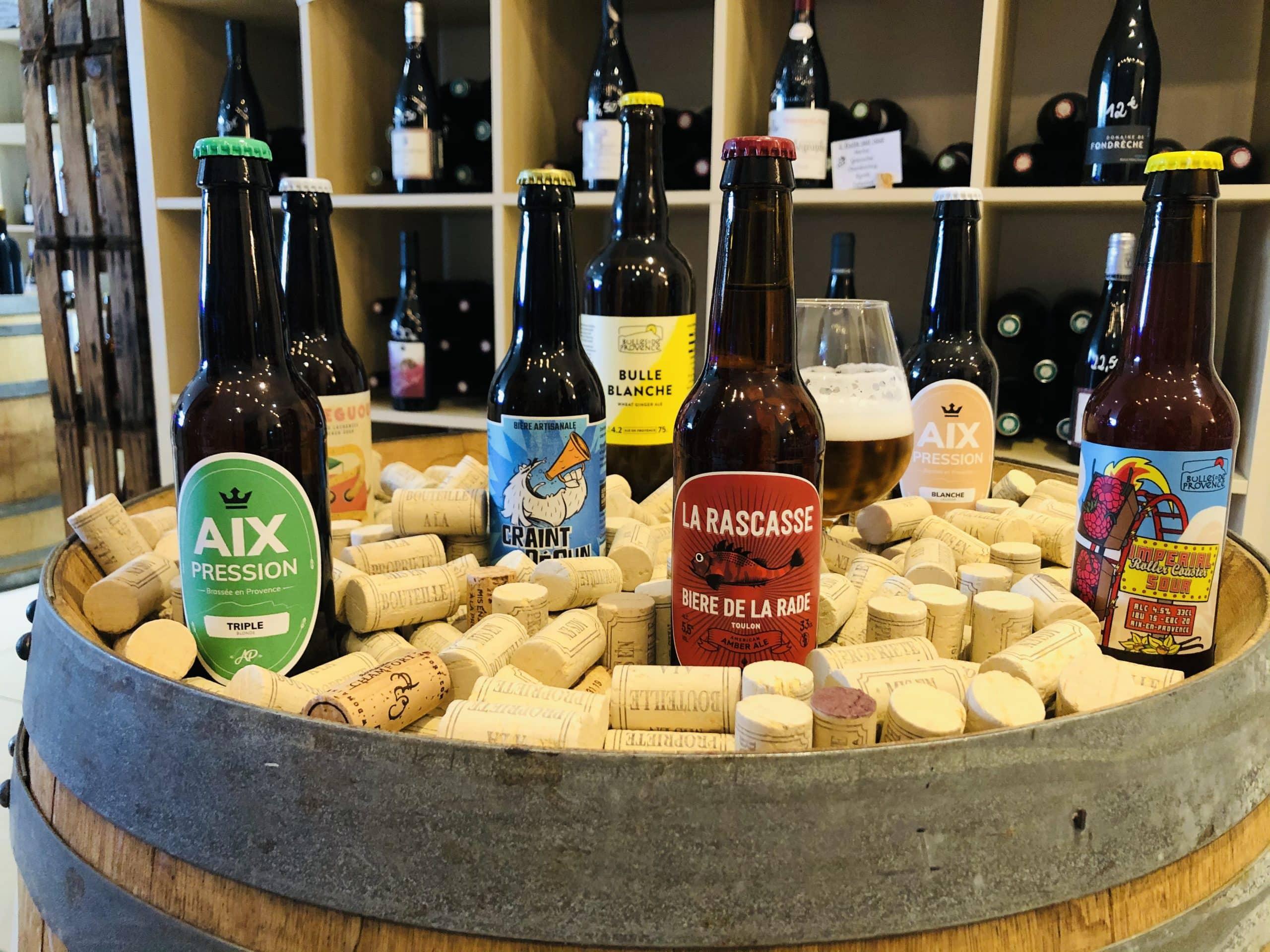 Bières artisanales carry le rouet sausset les pins